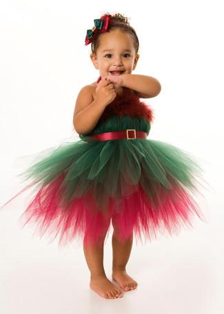 Come indossare: vestito di natale verde e rosso