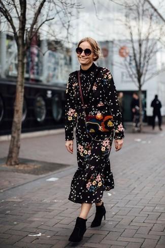 9f6160313f9e Quale vestito longuette indossare con stivaletti neri (37 foto ...