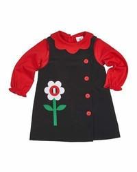 Maglione a fiori nero