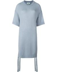 Maglione a maniche corte azzurro