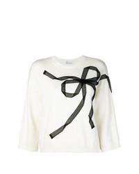 Maglione a maniche corte bianco e nero di RED Valentino