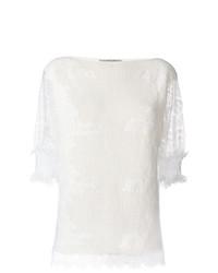 Maglione a maniche corte bianco di Ermanno Scervino