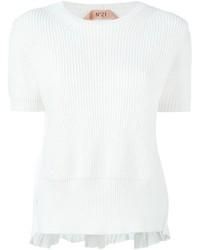 Maglione a maniche corte bianco di No.21