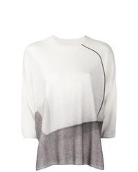 Maglione a maniche corte bianco di Oyuna