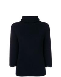 Maglione a maniche corte blu scuro di RED Valentino