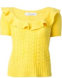 Maglione a maniche corte giallo di Valentino