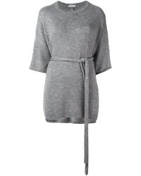 Maglione a maniche corte grigio di Brunello Cucinelli