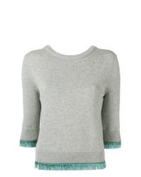 Maglione a maniche corte grigio di Chloé