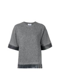 Maglione a maniche corte grigio di Prada