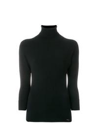 Maglione a maniche corte nero di Dsquared2