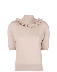 Maglione a maniche corte rosa di Barrie