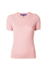 Maglione a maniche corte rosa di Ralph Lauren
