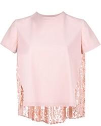 Maglione a maniche corte rosa di Valentino