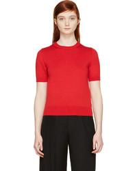 Maglione a maniche corte rosso