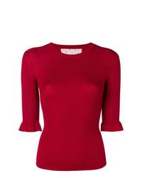 Maglione a maniche corte rosso di RED Valentino