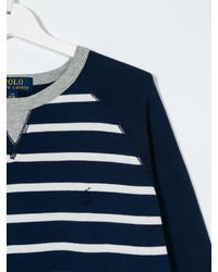 Maglione a righe orizzontali blu scuro di Ralph Lauren