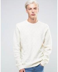 Maglione a trecce bianco di Asos