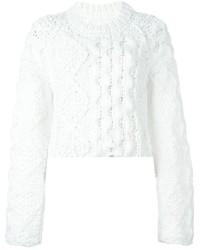 Maglione a trecce bianco di Maison Margiela