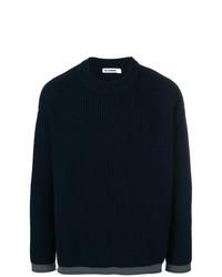 Maglione a trecce blu scuro di Jil Sander