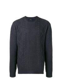 Maglione a trecce blu scuro di Polo Ralph Lauren