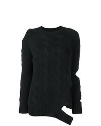 Maglione a trecce nero di Zoe Jordan
