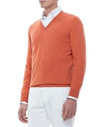 nuovo prodotto a1b12 7147d Come indossare e abbinare un maglione arancione (178 foto ...