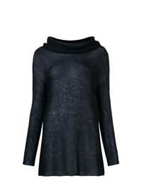 Maglione con collo a scialle blu scuro di Antonelli