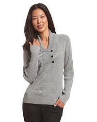 Se desideri un look adatto per una gionata di relax, non cercare oltre: scegli questa combinazione di un gilet e un maglione con collo a scialle.