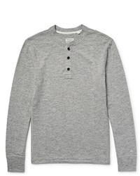 Maglione con collo serafino grigio