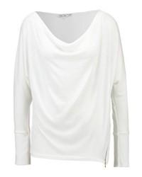 Maglione con scollo a cappuccio bianco