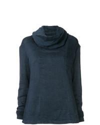 Maglione con scollo a cappuccio blu scuro