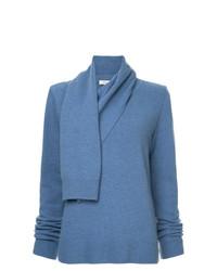 Maglione con scollo a cappuccio blu di Goen.J