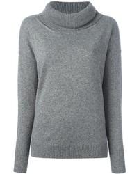 Maglione con scollo a cappuccio grigio di Blumarine