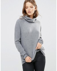 Maglione con scollo a cappuccio grigio di French Connection