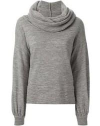 Maglione con scollo a cappuccio grigio di Societe Anonyme
