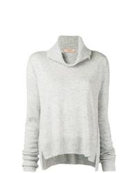 Maglione con scollo a cappuccio grigio di Twin-Set