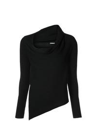 Maglione con scollo a cappuccio nero di Tome