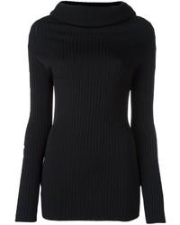 Maglione con scollo a cappuccio nero di Valentino