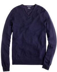 Maglione con scollo a v blu scuro
