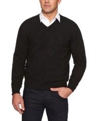 Maglione con scollo a v nero di Al Andalus
