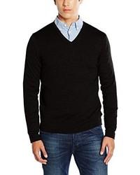 Maglione con scollo a v nero di Calvin Klein