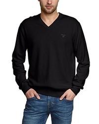 Maglione con scollo a v nero di Gant