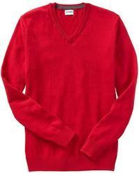 Maglione con scollo a v rosso