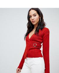 Maglione con scollo a v rosso di Asos Tall