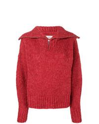 Maglione con scollo a v rosso di Isabel Marant Etoile
