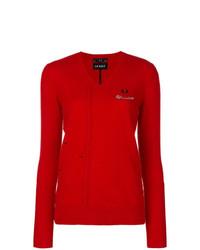Maglione con scollo a v rosso di Le Kilt