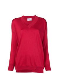 Maglione con scollo a v rosso di Snobby Sheep
