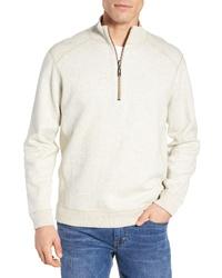 Maglione con zip beige