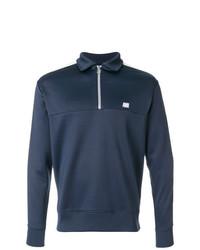 Maglione con zip blu scuro di AMI Alexandre Mattiussi