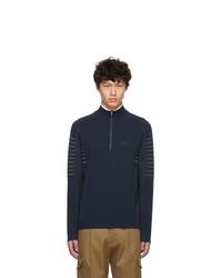 Maglione con zip blu scuro di BOSS